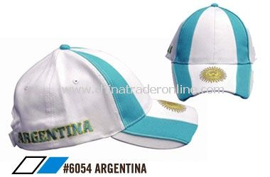 cap for fans of soccer in Argentina from China