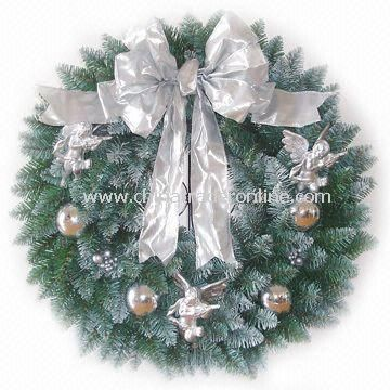 Decorated Fraser Fir Wreath and 50 Lights