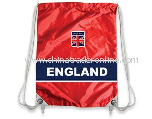 England football supporter drawstring bag