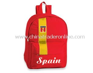 Football backpack for supporters from Spain