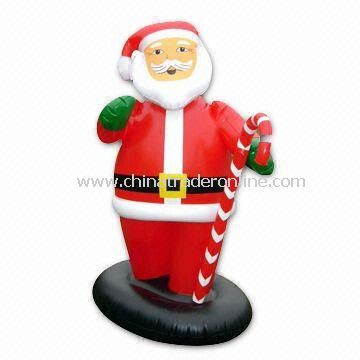 Inflatable Santa Claus for Christmas Decoration, Customized Shapes and Logos are Welcome