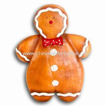 Paper Mache Christmas Gingerbread Man, Customized Designs are Accepted from China
