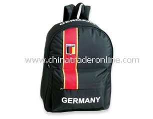 Soccer backpack also called a football bag for Germany Soccer Supporters
