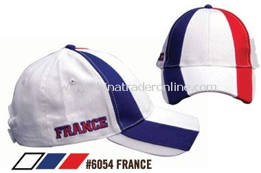 SOCCER CAPS FOR SUPPORTERS OF FRANCE
