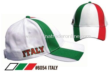 SOCCER CAPS FOR SUPPORTERS OF ITALY