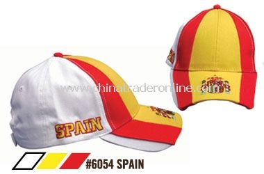 SOCCER CAPS FOR SUPPORTERS OF THE TEAM FROM SPAIN