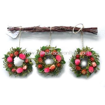 Wreaths with Natural Dried Rattan Ring