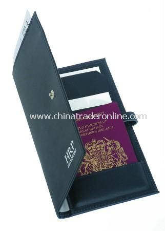 Knightsbridge British Leather, Moire Lined Travel Wallet