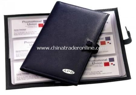 Knightsbridge Leather Business Card File