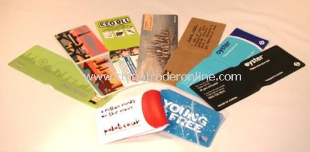 Oyster Card Style Travel Wallet (without Pinseal backing) Printed One Colour