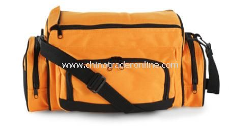 Pomelo cooler bag with main compartment and three zipped pockets