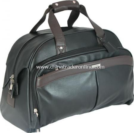 Enzo Rossi, Royal Nappa Leather, Holdall - Black