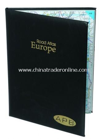 A4 Atlas of Europe in Recycled Leather