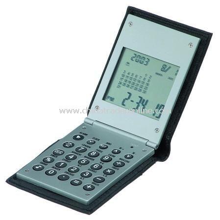 Folding Calculator in Leatherette Wallet