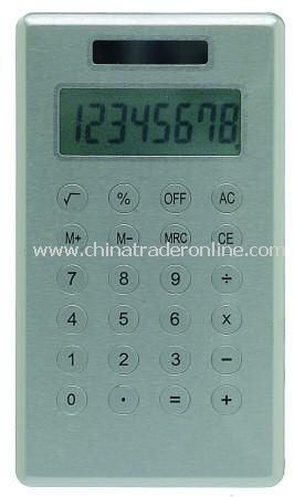 8 Digit Dual Powered Slim Line Pocket Calculator