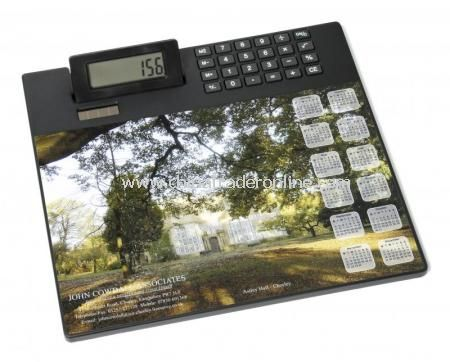 Calculator and Mouse Mat from China