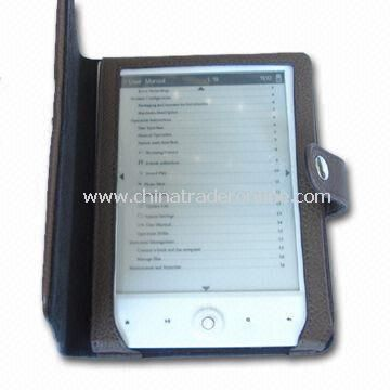 6-inch E-book Reader with G-sensor Function and E-ink Display Technology, Supports 4GB Memory