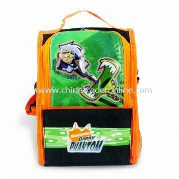 Childrens Lunch Boxes & Cooler Bags with Two Mesh Side Pockets, Measuring 16 x 24 x 13cm
