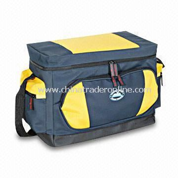 Cooler Bag, Made of Imitation Faille, with Two Side Pockets