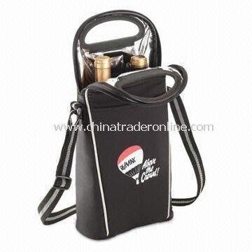 Insulated wine cooler bag Wine Cooler Bag, Made of Microfiber from China