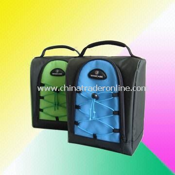 Lunch Bags with Front Mesh Pocket, in Different Color Combinations