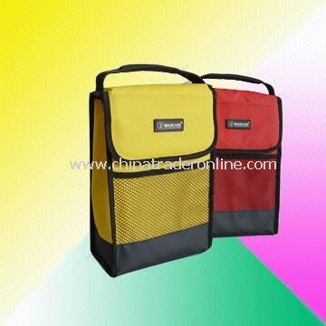 Lunch Bags with Front Mesh Pockets in Different Colors