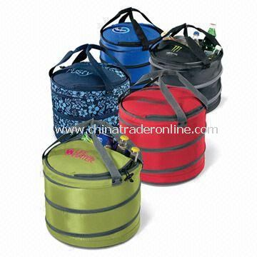 Pop-up Cooler Bucket, Made of 600D Polyester