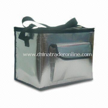 Waterproof Cooler Bag in PE/PP Woven Cloth + EPE Foam + Waterproof PE Lining, Your Designs Welcome