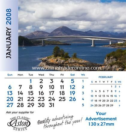 12 leaf desk calendar