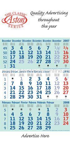 Compact Shipping Calendar