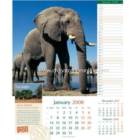Endangered Species Calendar from China