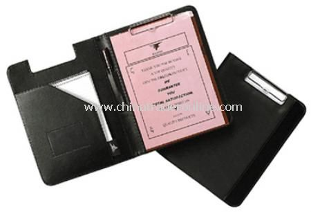A4 Conference Folder with Clipboard - Black
