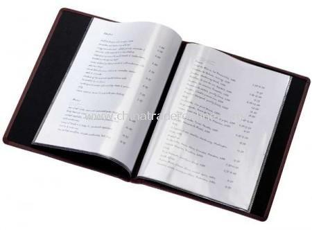A4 Wine List/Menu Holder.