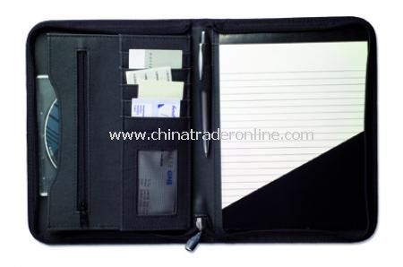 Diplomat conference folder with zip, A5, includes note pad from China