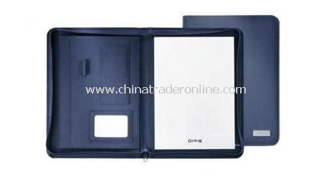 MICRO FIBRE A4 ZIPPER PORTFOLIO  Includes memo pad from China