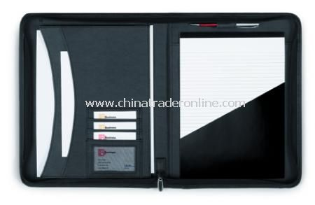 Diplomat conference folder A4, with zip, includes note pad, boxed from China