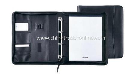 EMPEROR A4 ZIPPER PORTFOLIO DELUXE With 4 rings, memo pad & compartments