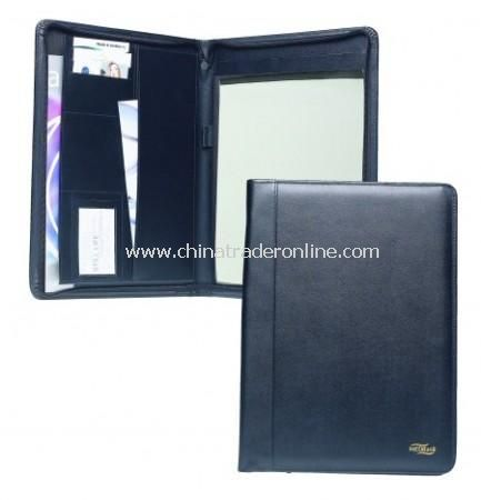 Fine Cell Leather Executive Zip Around A4 Conference Folder