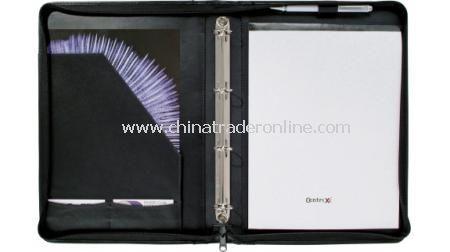 Zipper Portfolio With Ring Binder
