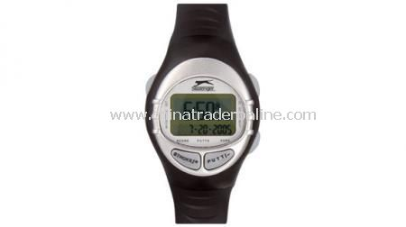 SLAZENGER GOLF HANDICAP COMPUTER WATCH With hour, minute, second, month, date and year,