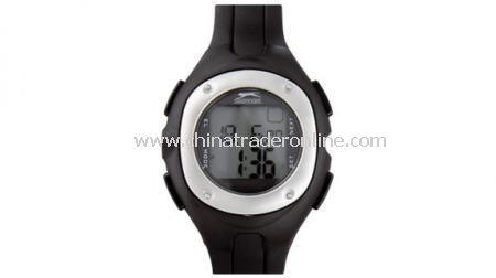 SLAZENGER HEALTH WATCH  12/24 clock, calendar, alarm, timer & stopwatch, personal user profi12/24 clock, calendar, alarm, timer & stopwatch, personal user profi: Black / Silver,