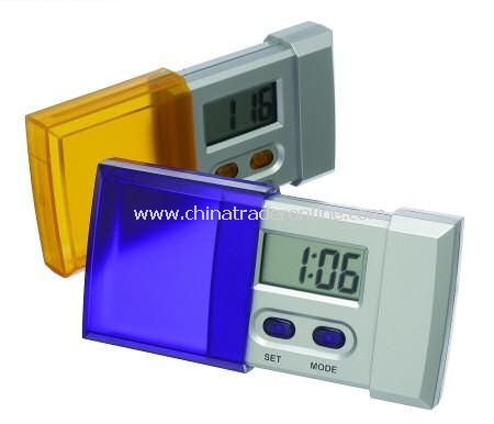 Compact Slide Action Digital Travel Alarm Clock