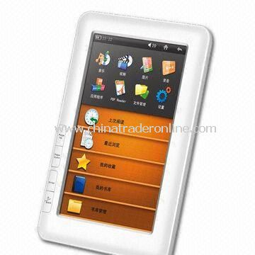 7-inch Color Touchscreen Multimedia e-Reader with 600 x 800 Pixels Resoulution