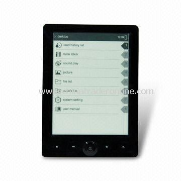 E-book Reader with 6.0-inch PVI Display and 800 x 600 Pixels Resolution