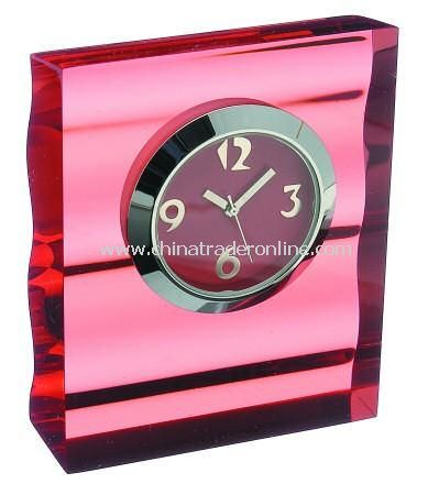 Acrylic Wave Design Desk Clock from China