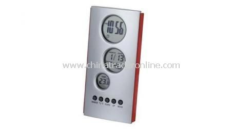CALENDAR ALARM CLOCK WITH THERMOMETER