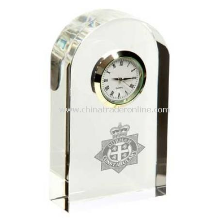 Chunky Crystal Arch Clock
