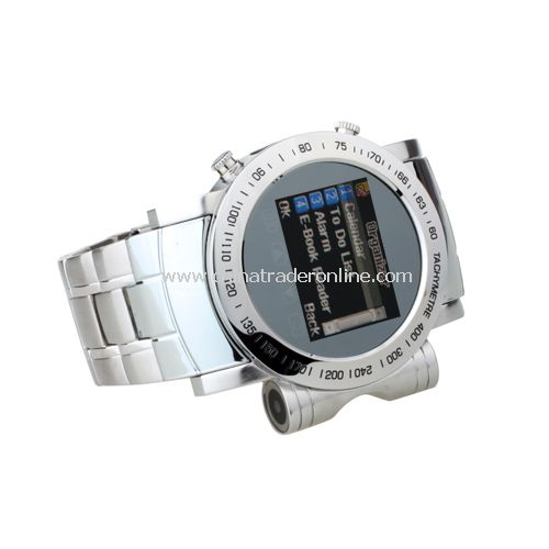Cool Stainless Steel Quad Band Bluetooth Mp3 / Mp4 Player Wrist Watch Cell Phone