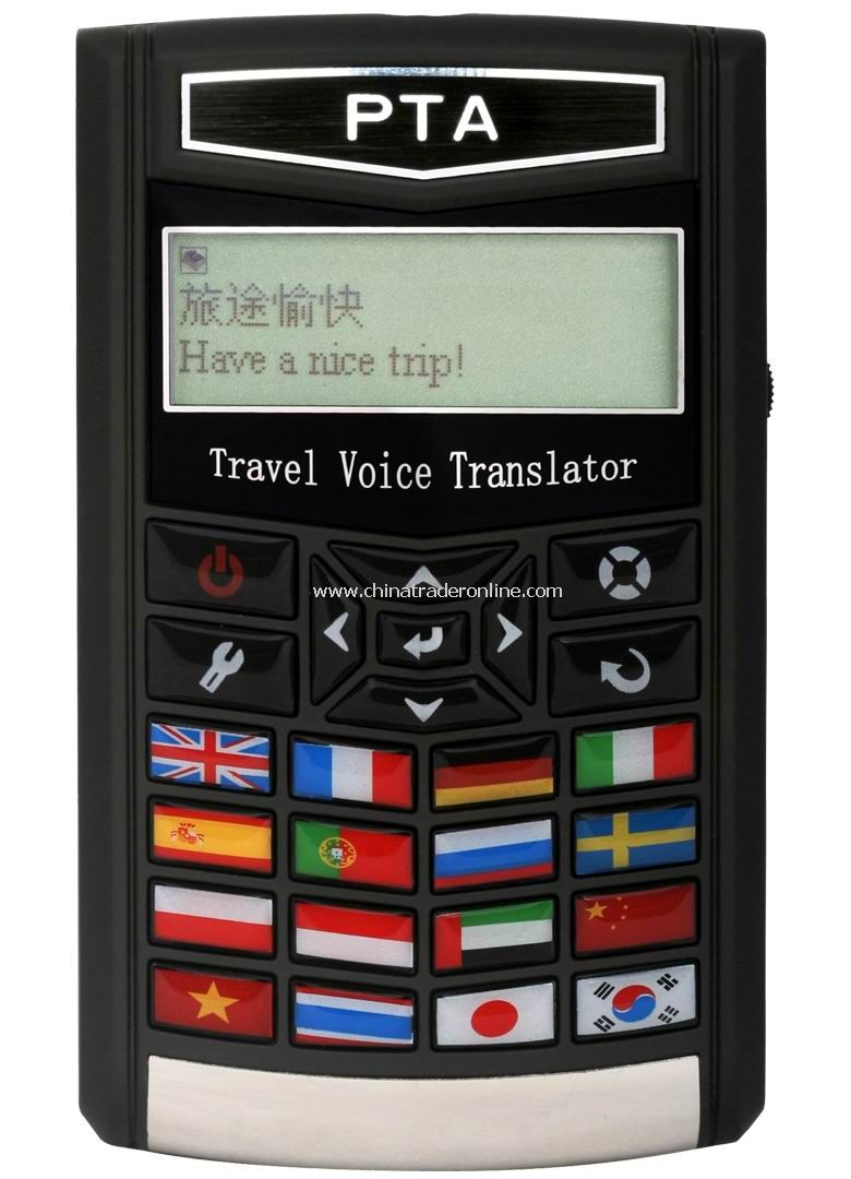 16 Languages Traveling Translator with Flag version
