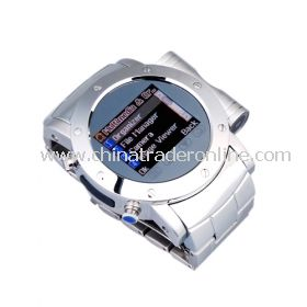 Cool Stainless Steel Quad Band Bluetooth Mp3 Mp4 Wrist Watch Cell Phone